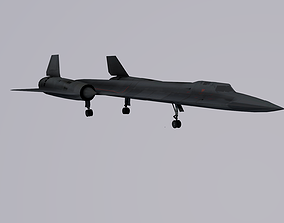 Lockheed SR-71 Blackbird 3D asset rigged