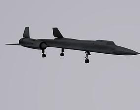 Lockheed SR-71 Blackbird 3D asset rigged