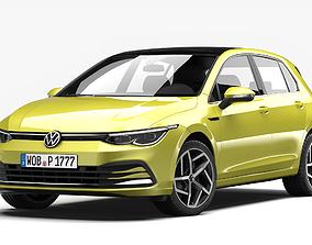 golf 3D model Volkswagen Golf 2020