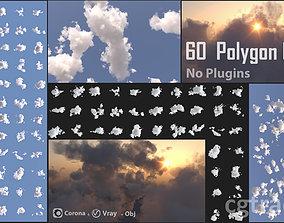 3D model 60 Polygon Cloud Pack