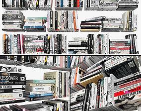 3D asset low-poly Books
