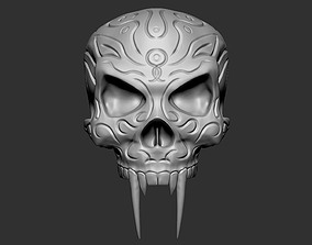 Sabre Tooth Oriental Skull High detailed 3D print Model
