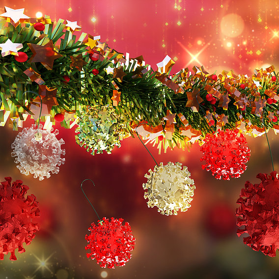 Streamers SET and a ready Garland for Christmas and New year 3D model