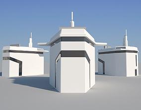 3D model Industrial Building 08