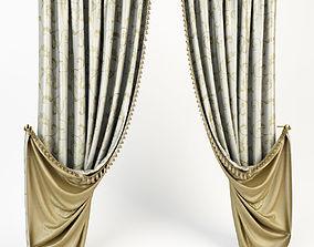 3D model pelmet Curtain Classic