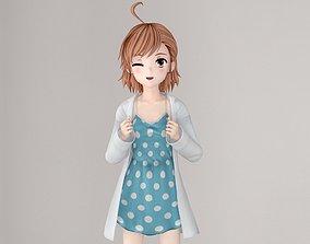 3D model Last Order anime girl pose 01