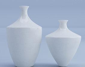 3D model Ceramic Vases White