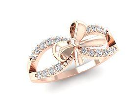 3D printable model hongkong 1108 Diamond bow tie Ring
