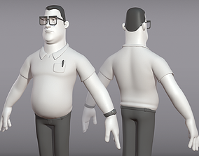 Male cartoon character Ben 3D model