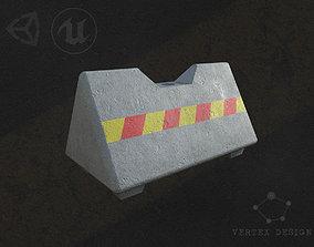 Jersey barrier 3D asset