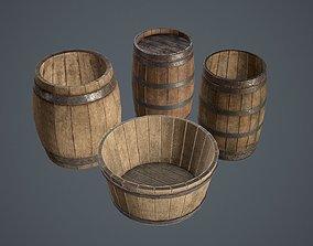 Barrels Medieval pack 3D asset