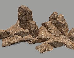3D model realtime sand rocks