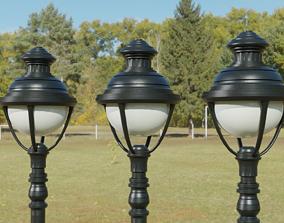 3D model game-ready PBR street light