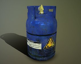 Gas bottle 3D model game-ready