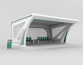 Bus stop 3D model table