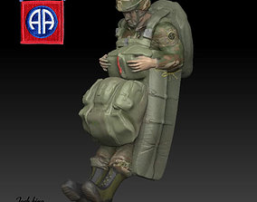 82nd Airborne US Army Paratrooper 3D print model
