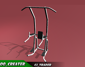 realtime Gym Pull-Up Machine Low-poly 3D model