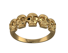 3D print model Skeleton ring