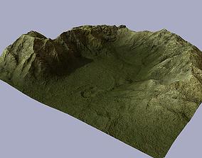 3D model low-poly Terrain exterior