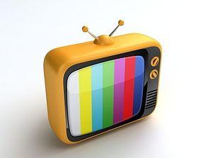 Retro TV screen 3D model