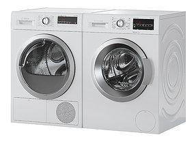3D Bosch Washer Dryer Serie 6