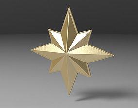 3D printable Captain Marvel emblem mcu