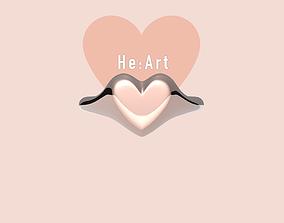 Heart signet ring 3D printable model