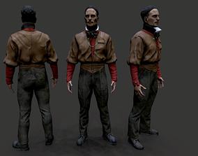 Noir Character 2 3D asset