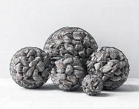Gabion sphere form pebbles 3D model