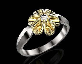Ring flower 3D printable model rings