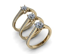 3D print model Jewelry Rings NINE RINGS isolated