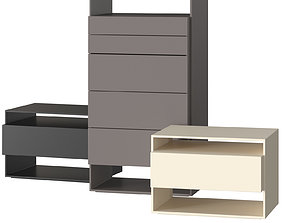 Flou Sanya Sideboards 3D model