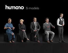 Humano 5-Pack - CAFE - RESTAURANT - BAR - 5x 3D 1