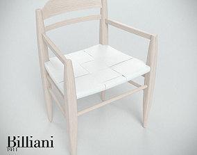 3D model Billiani Vincent VG armchair white