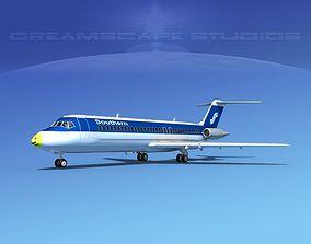 3D model Douglas DC-9-30 Southern