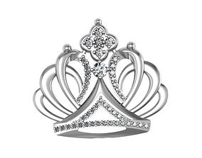 Brooch Crown 3D printable model