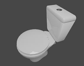 porcelain houseware 3D Toilet