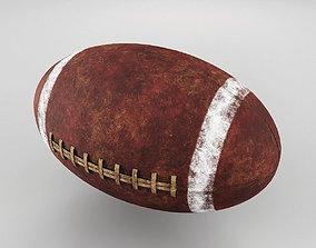 3D model Old American Football Ball