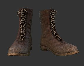 Leather Boots WW2 Soldier Gear 3D asset