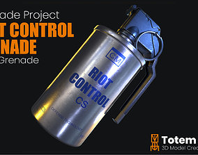 Tear Gas Grenade Riot Control 3D asset realtime