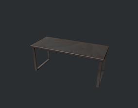 Black Metal Modern Table 3D model