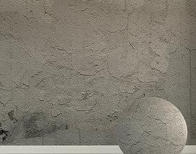 3D Concrete wall Old concrete 134