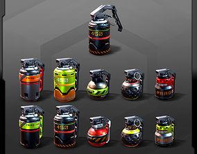 5 SF Grenades 3D model