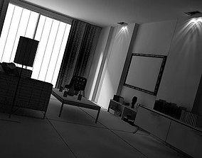 Green Living Room 3D model