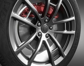 Car wheel 3D model PBR