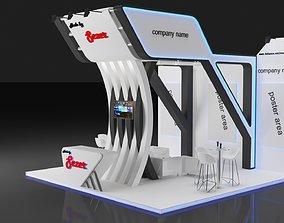 Exhibition Stall Size 5 m x 6 m Height 500 cm 3D