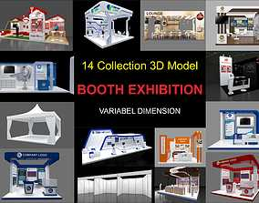 Exhibition stall collection 14 Models Collection 3D