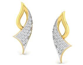 Women earrings 3dm render detail studs radiant