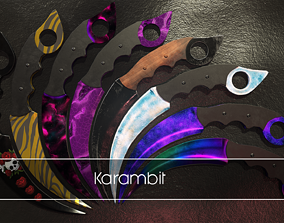 Karambit 3D model game-ready PBR
