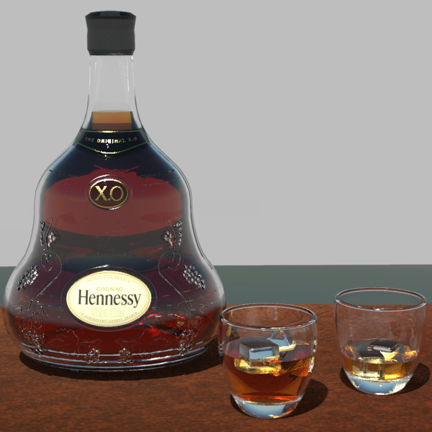 Drinking Hennessey!